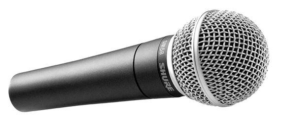 Shure SM58 microphone rental