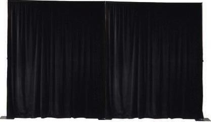 hire black stage drapes